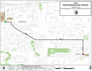2018 Parade Route