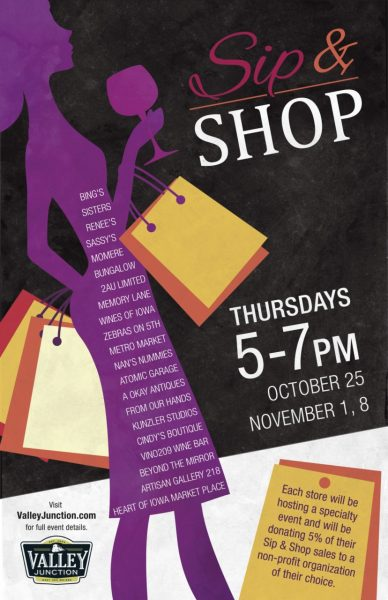 2018 - Sip and Shop Poster Small